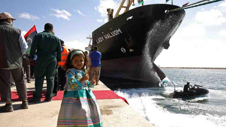 BenghaziPort-Libya-ship